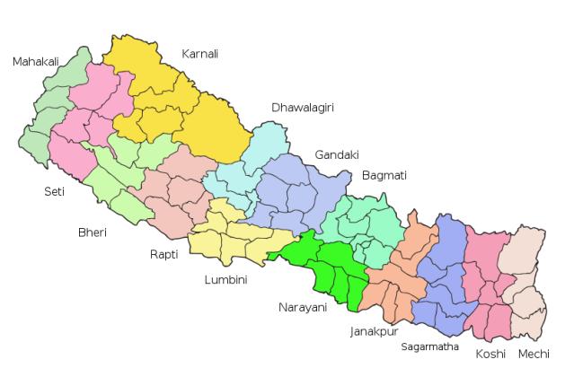 Nepal zones